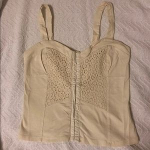 Cream Corset Style Top From Pacsun
